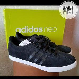 NWT Black adidas neo Courtset Sneakers Womens 10